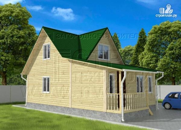 Фото 3: проект дачный дом 6х9 м из бруса