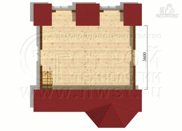 Фото 6: проект дачный дом 6х6 м с мансардой, эркером и двумя «фонарями»