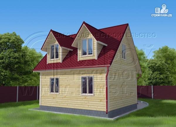 Фото 2: проект дачный дом 6х6 м с мансардой, эркером и двумя «фонарями»