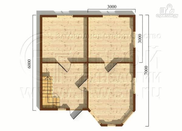 Фото 5: проект дачный дом 6х6 м с мансардой, эркером и двумя «фонарями»