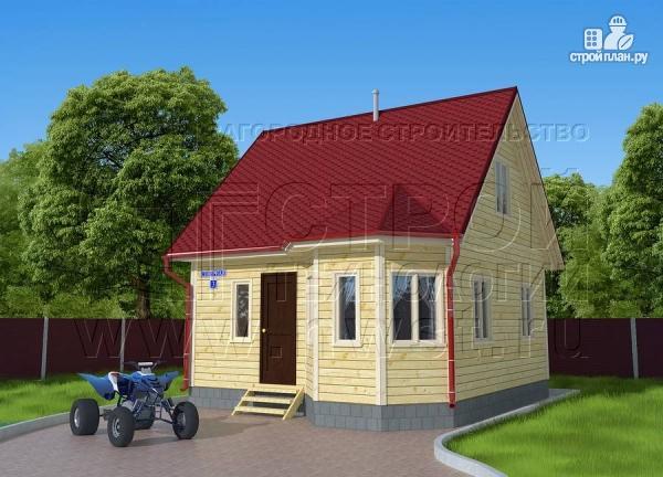 Фото 3: проект дачный дом 6х6 м с мансардой, эркером и двумя «фонарями»
