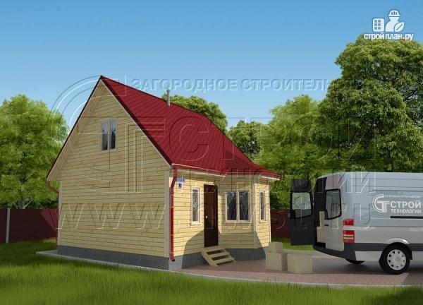 Фото: проект дачный дом 6х6 м с мансардой, эркером и двумя «фонарями»