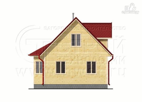 Фото 10: проект дачный дом 6х6 м с мансардой, эркером и двумя «фонарями»