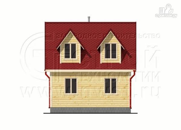 Фото 9: проект дачный дом 6х6 м с мансардой, эркером и двумя «фонарями»