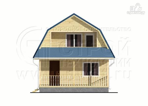 Фото 7: проект дачный дом 6х6 м с лоджией в мансарде и террасой