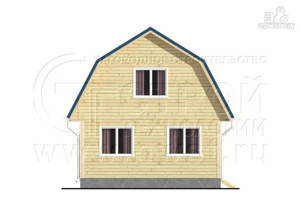 Фото 9: проект дачный дом 6х6 м с лоджией в мансарде и террасой