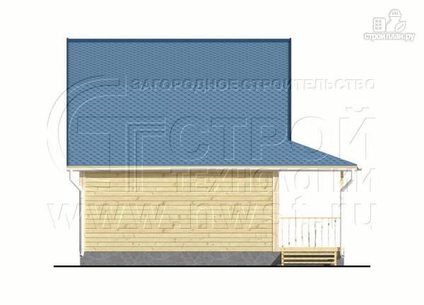 Фото 10: проект дачный дом 6х6 м с лоджией в мансарде и террасой