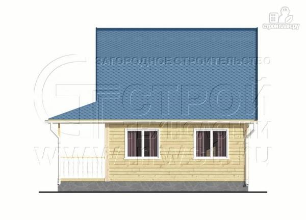 Фото 8: проект дачный дом 6х6 м с лоджией в мансарде и террасой