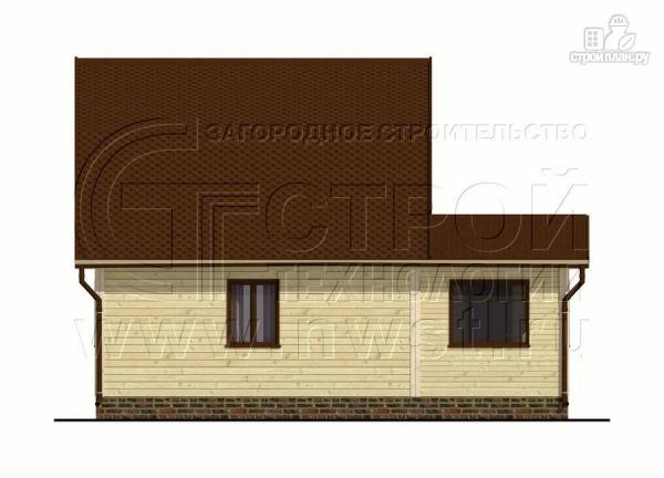 Фото 9: проект дачный дом 6х6 м из бруса сверандой