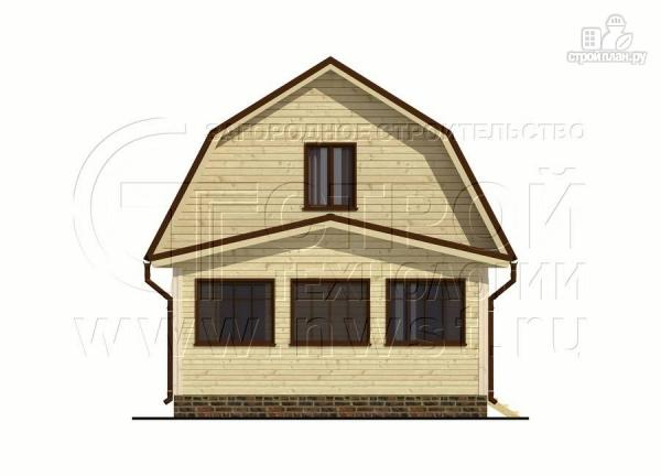 Фото 10: проект дачный дом 6х6 м из бруса сверандой