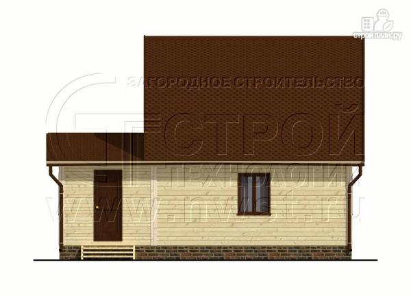 Фото 7: проект дачный дом 6х6 м из бруса сверандой