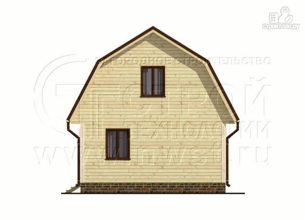 Фото 8: проект дачный дом 6х6 м из бруса сверандой
