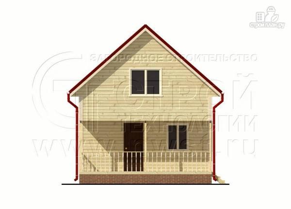 Фото 7: проект брусовой дачный дом 6х6 м с террасой