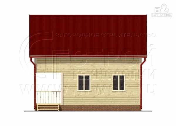 Фото 8: проект брусовой дачный дом 6х6 м с террасой
