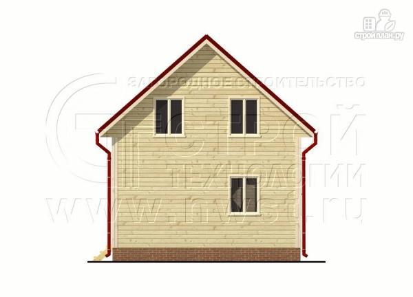 Фото 9: проект брусовой дачный дом 6х6 м с террасой