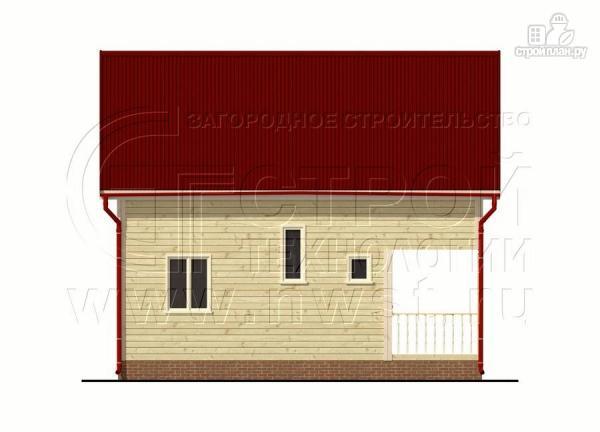 Фото 10: проект брусовой дачный дом 6х6 м с террасой