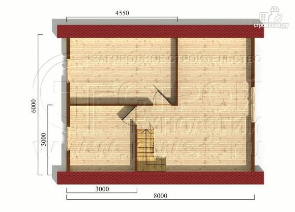 Фото 6: проект брусовой дачный дом 6х6 м с террасой