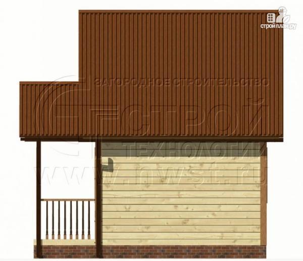 Фото 8: проект дачный дом 5х4 м с мансардным этажом и крыльцом