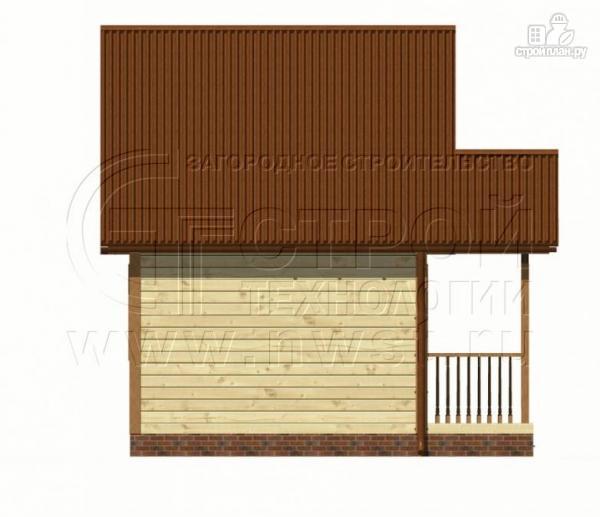 Фото 7: проект дачный дом 5х4 м с мансардным этажом и крыльцом