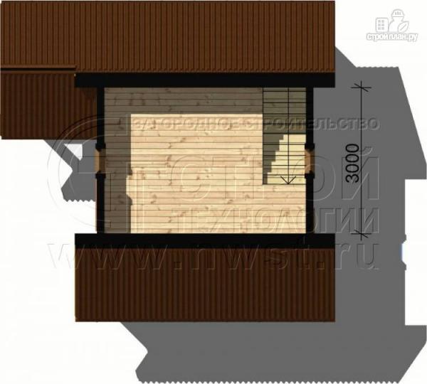 Фото 5: проект дачный дом 5х4 м с мансардным этажом и крыльцом
