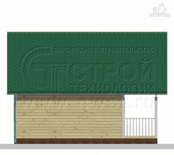 Фото 7: проект дачный дом 6х6 м с лоджией и террасой