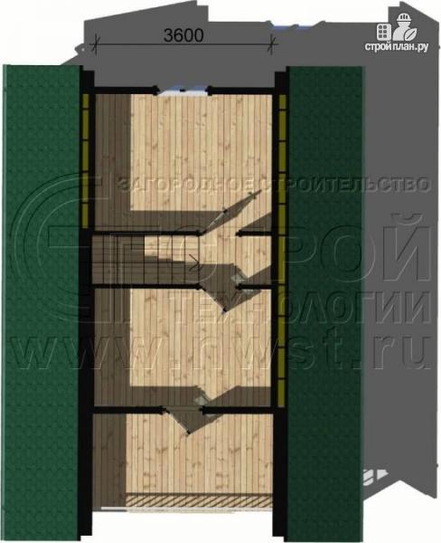 Фото 5: проект дачный дом 6х6 м с лоджией и террасой