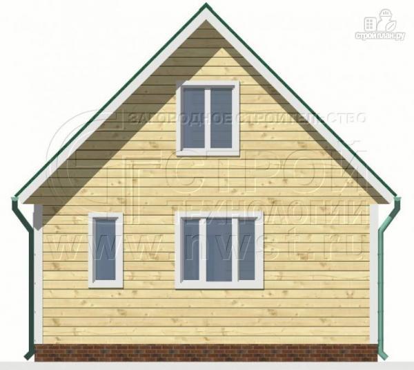 Фото 8: проект дачный дом 6х6 м с лоджией и террасой