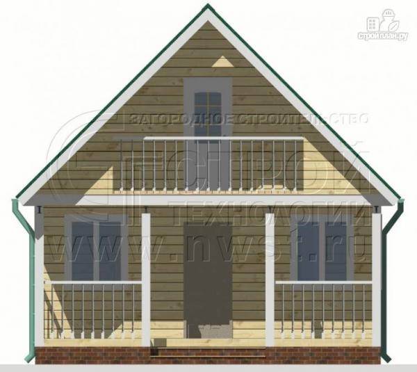 Фото 6: проект дачный дом 6х6 м с лоджией и террасой