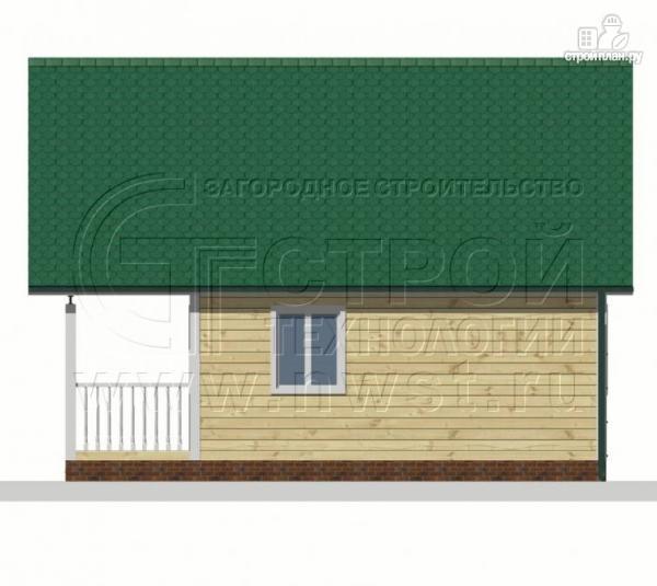 Фото 9: проект дачный дом 6х6 м с лоджией и террасой