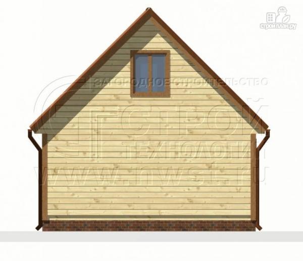 Фото 9: проект дом 6х4 м из бруса с мансардой и террасой