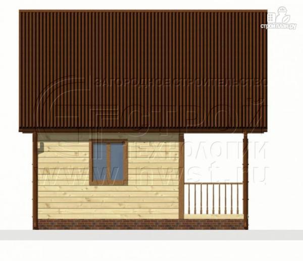 Фото 8: проект дом 6х4 м из бруса с мансардой и террасой
