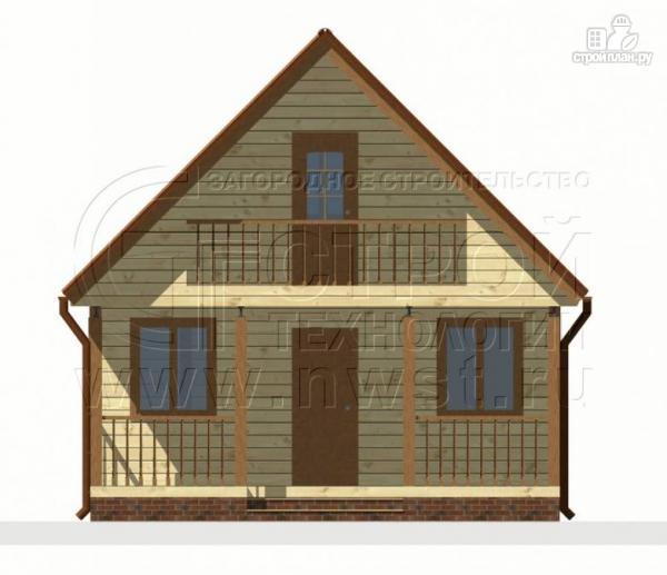 Фото 6: проект дом 6х4 м из бруса с мансардой и террасой