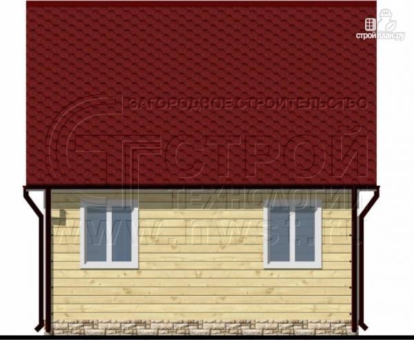 Фото 6: проект дом 6х6 м с мансардой и террасой 12 м2