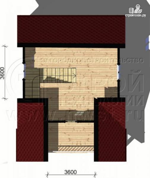 Фото 5: проект дом 6х6 м с мансардой и террасой 12 м2