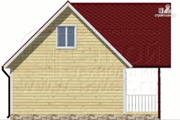 Фото 9: проект дом 6х6 м с мансардой и террасой 12 м2