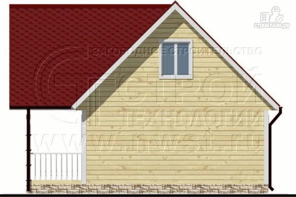 Фото 7: проект дом 6х6 м с мансардой и террасой 12 м2