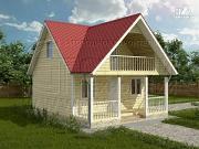Фото: дом 6х6 м с мансардой и террасой 12 м2