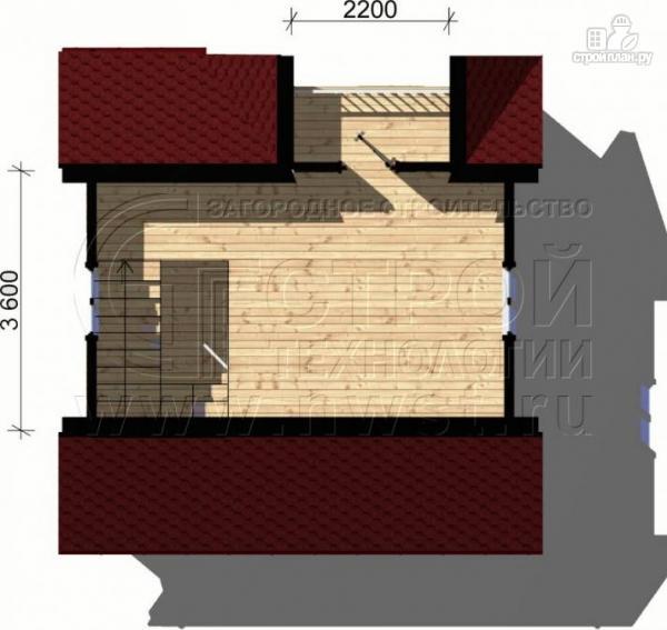 Фото 5: проект дачный дом 6х6 м с балконом и мансардой