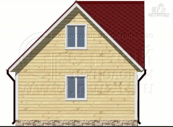 Фото 9: проект дачный дом 6х6 м с балконом и мансардой