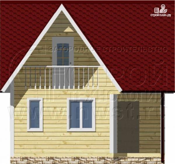 Фото 8: проект дачный дом 6х6 м с балконом и мансардой