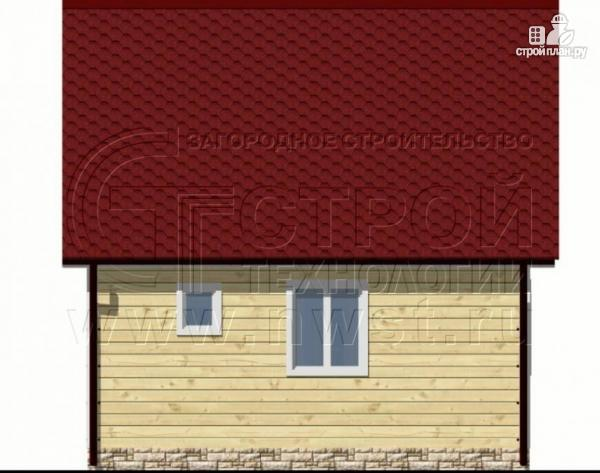 Фото 6: проект дачный дом 6х6 м с балконом и мансардой