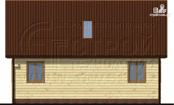 Фото 7: проект загородный дом 6х9 м с крыльцом