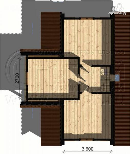 Фото 5: проект загородный дом 6х9 м с крыльцом