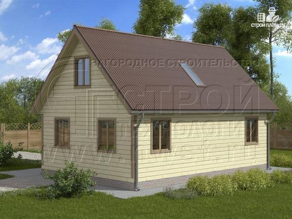 Фото 2: проект загородный дом 6х9 м с крыльцом