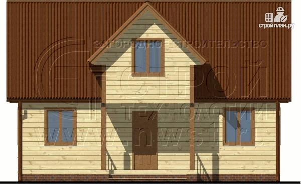 Фото 8: проект загородный дом 6х9 м с крыльцом