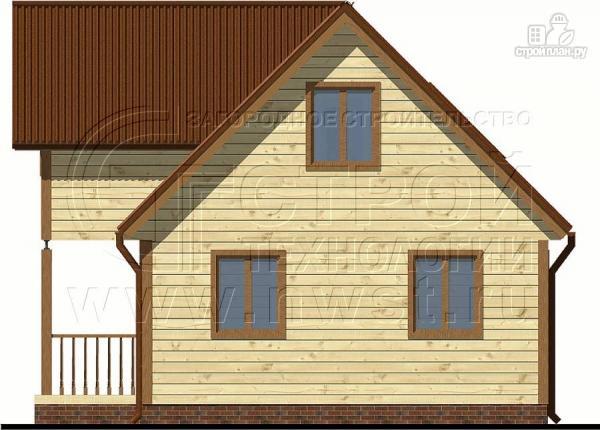 Фото 6: проект загородный дом 6х9 м с крыльцом