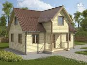 Проект загородный дом 6х9 м с крыльцом