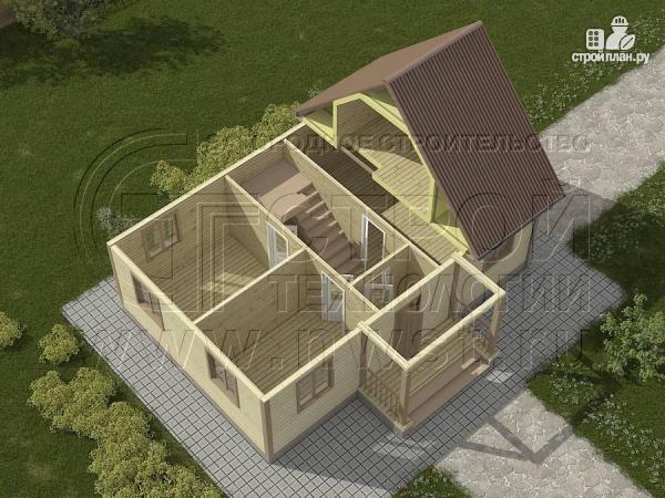 Фото 3: проект загородный дом 6х9 м с крыльцом