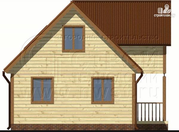 Фото 9: проект загородный дом 6х9 м с крыльцом