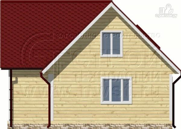 Фото 6: проект дачный дом 6х8 м из бруса, с балконом в мансарде
